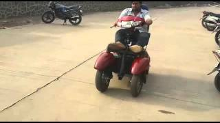 Four Wheel Electric Scooter for handicapped designed and developed at Kalsekar Technical Campus