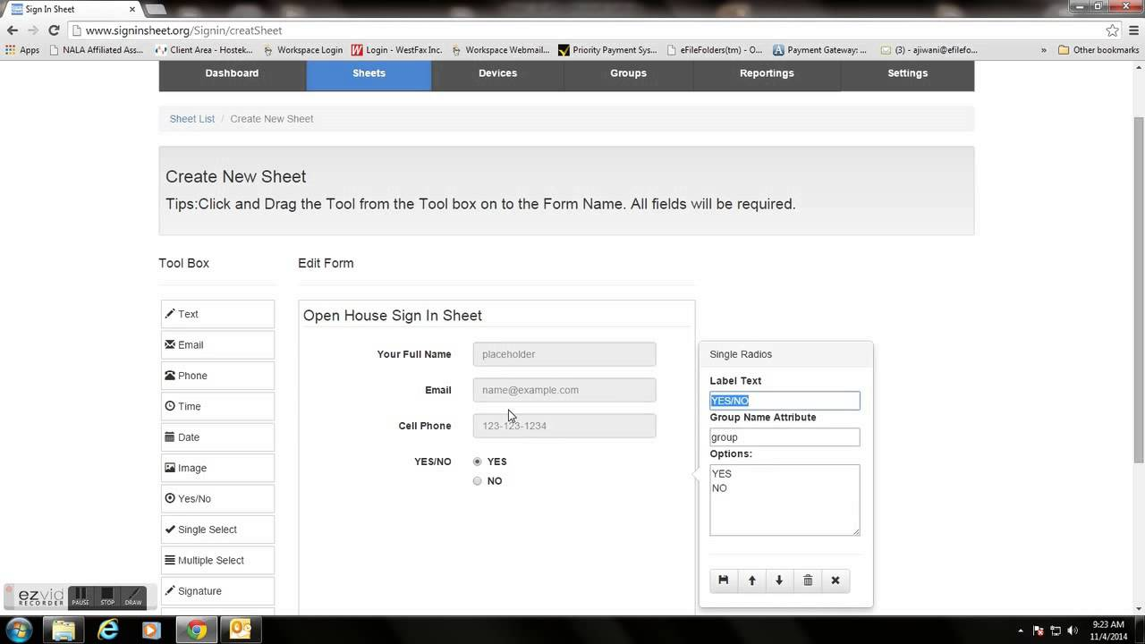 Sign In Sheet Mobile App Demo Video  Create A Sign In Sheet