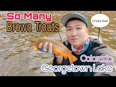 BFS / Spinning / Fly Fishing Combo Kayak Trout Fishing At Georgetown Lake, Colorado 👍 (보팅 송어 낚시)