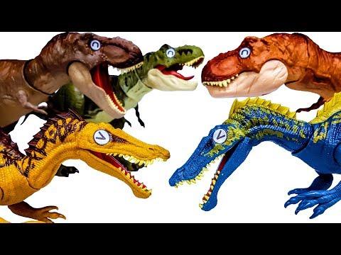 쥬라기월드 다이노라이벌스 공룡배틀 수코미무스 Vs. 티렉스 공룡메카드 공룡 장난감놀이