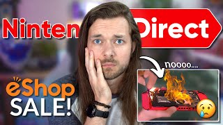 NEW Nintendo Direct & HUGE eShop Sale! (...but I BROKE my Switch)