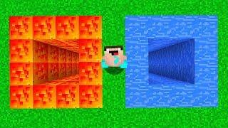 ЯМА ИЗ ЛАВЫ против ЯМА ИЗ ВОДЫ В МАЙНКРАФТ Неудачник Нуб в Minecraft Троллинг Ловушка Мультик