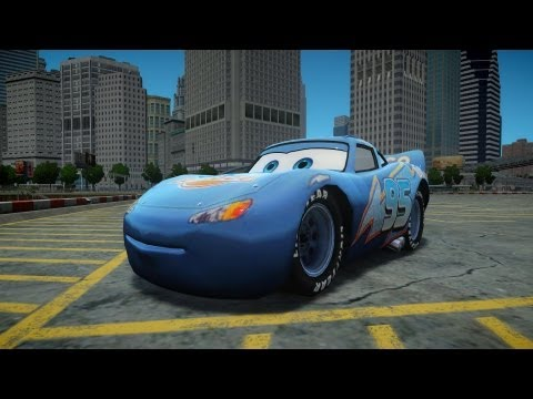Grand Theft Auto IV Rayo Lightning  McQueen Dinoco Crash Testing