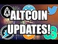 Altcoin Updates: Twitter Edition - Electroneum, EOS, Ethos Airdrops, Syscoin [Cryptocurrency]