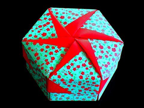 How To Make An Origami Gift Box Lid Youtube