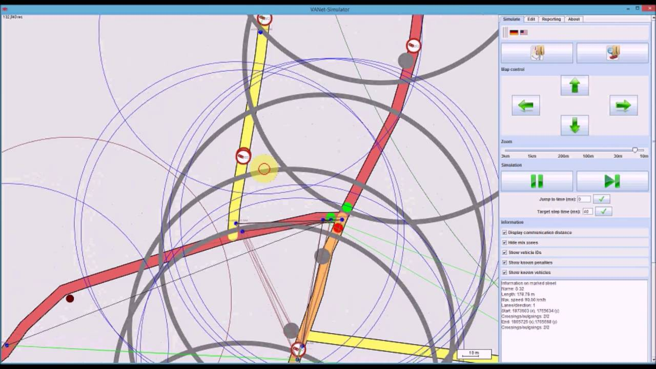 REALISTIC VANET SIMULATION IN JAVA WITH OpenStreetMap