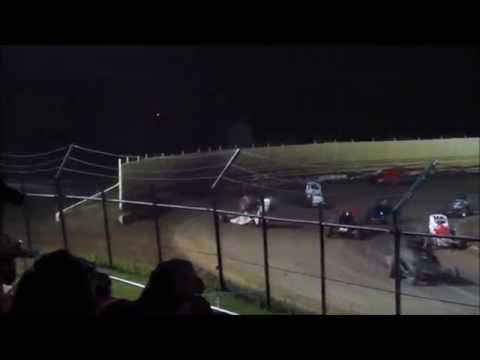 Creek County Speedway Joe Wood Jr Non Wing Champ Sprint Hard Flip 9/20/14