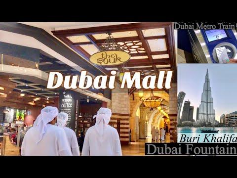Dubai Mall   Fountain   Aquarium Walking Tour and Metro Train Ride