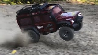 Traxxas TRX-4 Land Rover Defender Speed bashing