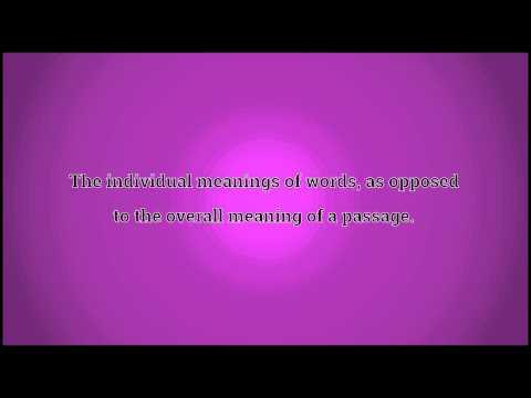 What Semantics Means