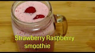 Strawberry Raspberry Smoothie || Berry smoothie ||Pink smoothie recipe || Delicious food recipes |||