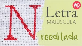 Letra N maiúscula – Ponto Cruz