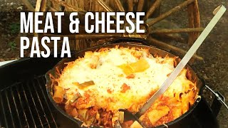 BBQ Pit Boys Pasta with Meat and Cheese recipe