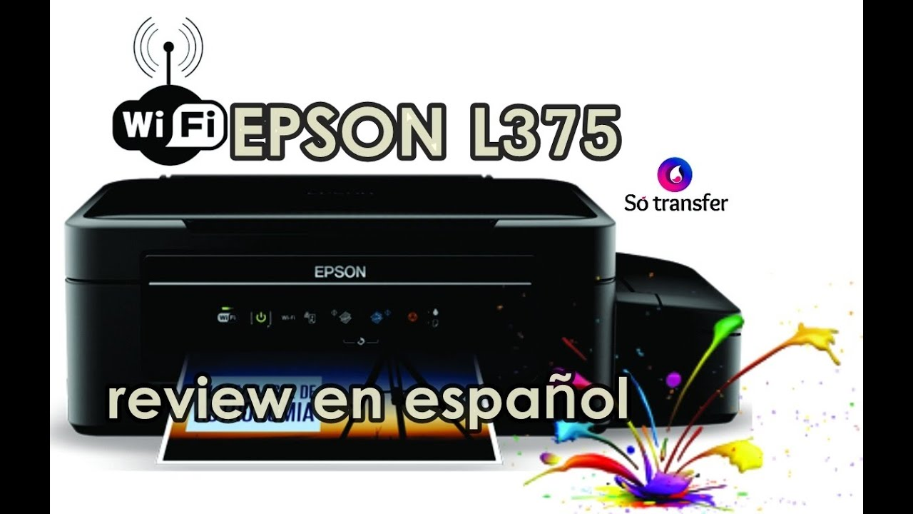 Epson L375 Ecotank Review En Espa 241 Ol Unboxing V Youtube