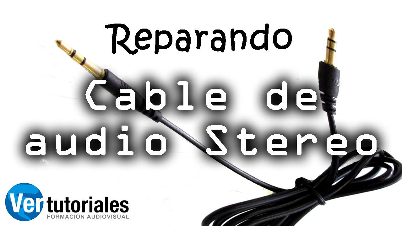 Arreglar un cable de audio de altavoces o auriculares - Cable de altavoces ...