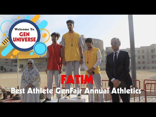 Fatim, Best Athlete GenFajr Annual Athletics - GenUniverse