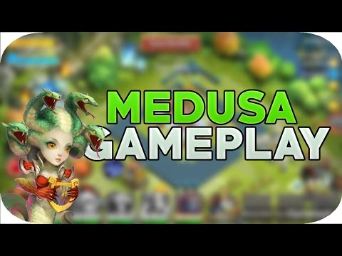 MEDUSA GAMEPLAY Lucky To Roll New Hero Talent Waiting Big Damage Castle Clash