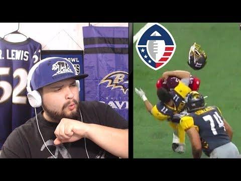 Ravens Fan Reacts To AAF San Diego Fleet VS San Antonio Commanders   AAF Reaction   Joe Noobo