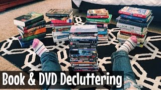 DECLUTTERING ALL MY BOOKS & DVDS / HOW TO LET GO