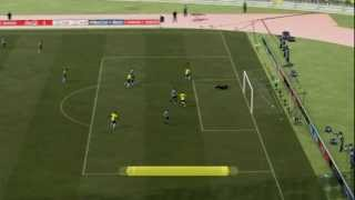 Gameplay FIFA 12 PC - Brasil x Argentina [ Ultimate Patch ].
