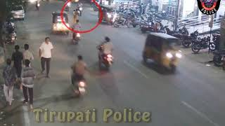 Auto Vs Pedestrian Accident | Great Support by Public | Tirupati Police
