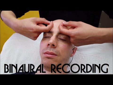 Girl performs Sleeping Head and Face Massage - ASMR Binaural recording
