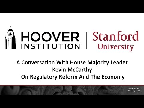 A Conversation With House Majority Leader Kevin McCarthy On Regulatory Reform And The Economy