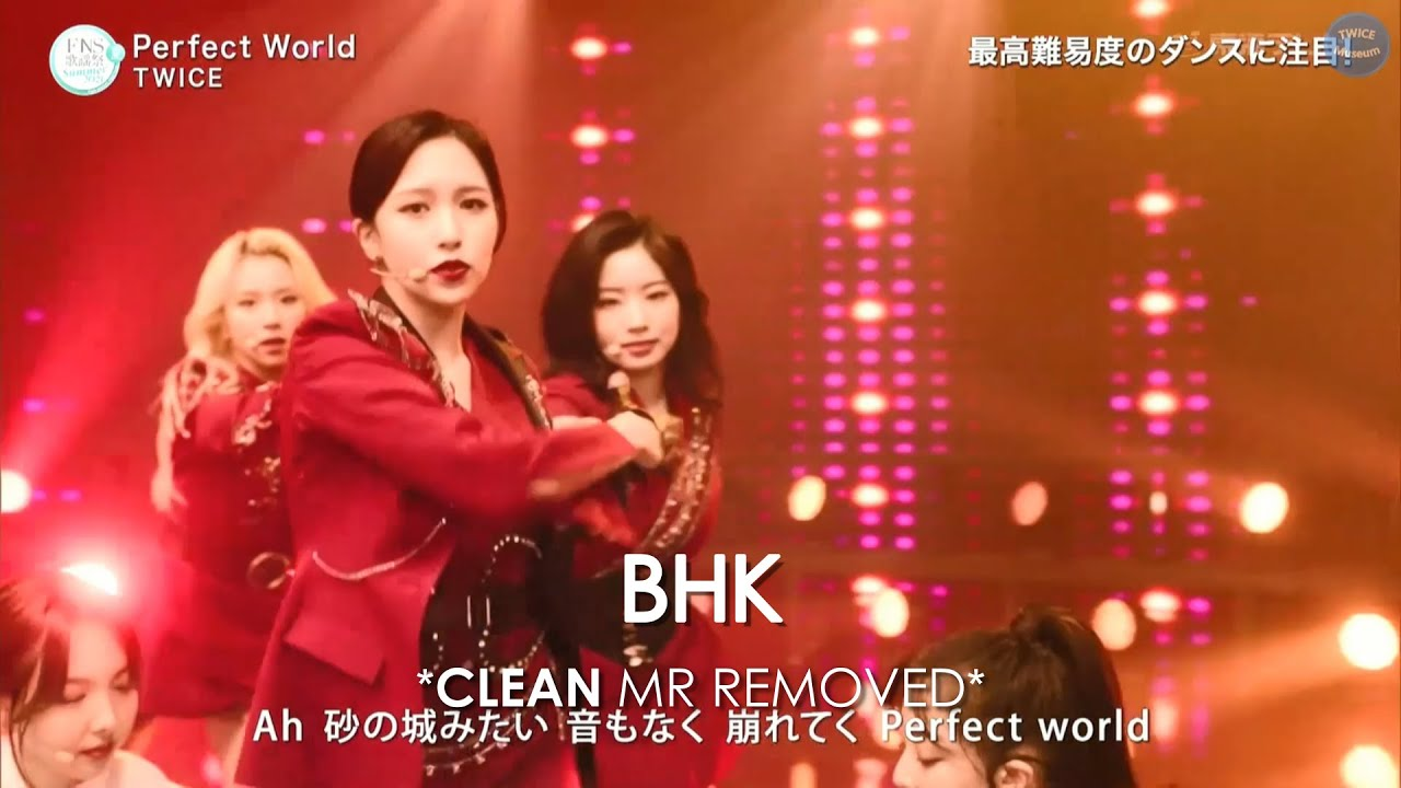 [CLEAN MR Removed] 210714 TWICE (トゥワイス) 「Perfect World」   FNS MUSIC FESTIVAL 2021 MR除去