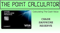Chase Sapphire Reserve Point Calculator
