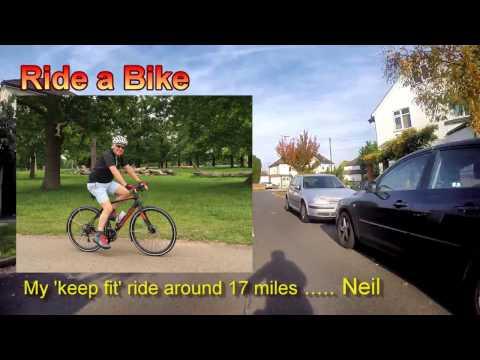 Bike Ride - Keep Fit. Surbiton Hampton Court Bushey Park Kingston. My Travels Neil Walker