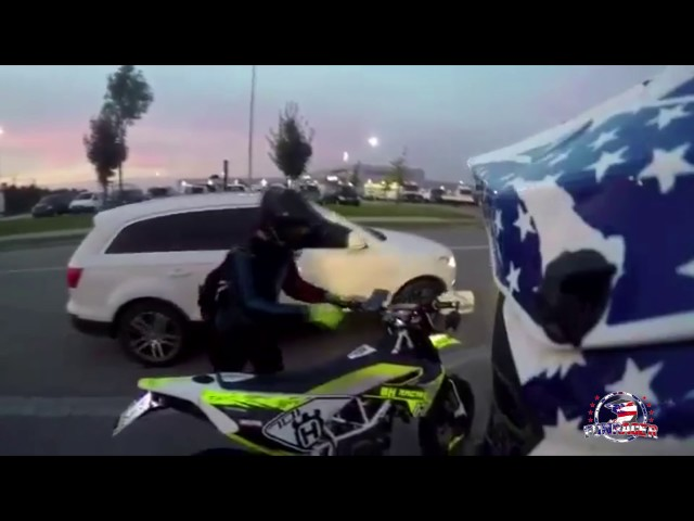 Yamaha Wr125x / Husky 701 long wheelie   FunRacer