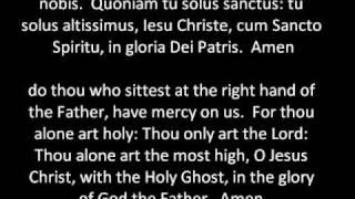 Missa de Angelis (Kyrie, Gloria and Credo)  Mode VIII in Latin and English typeset