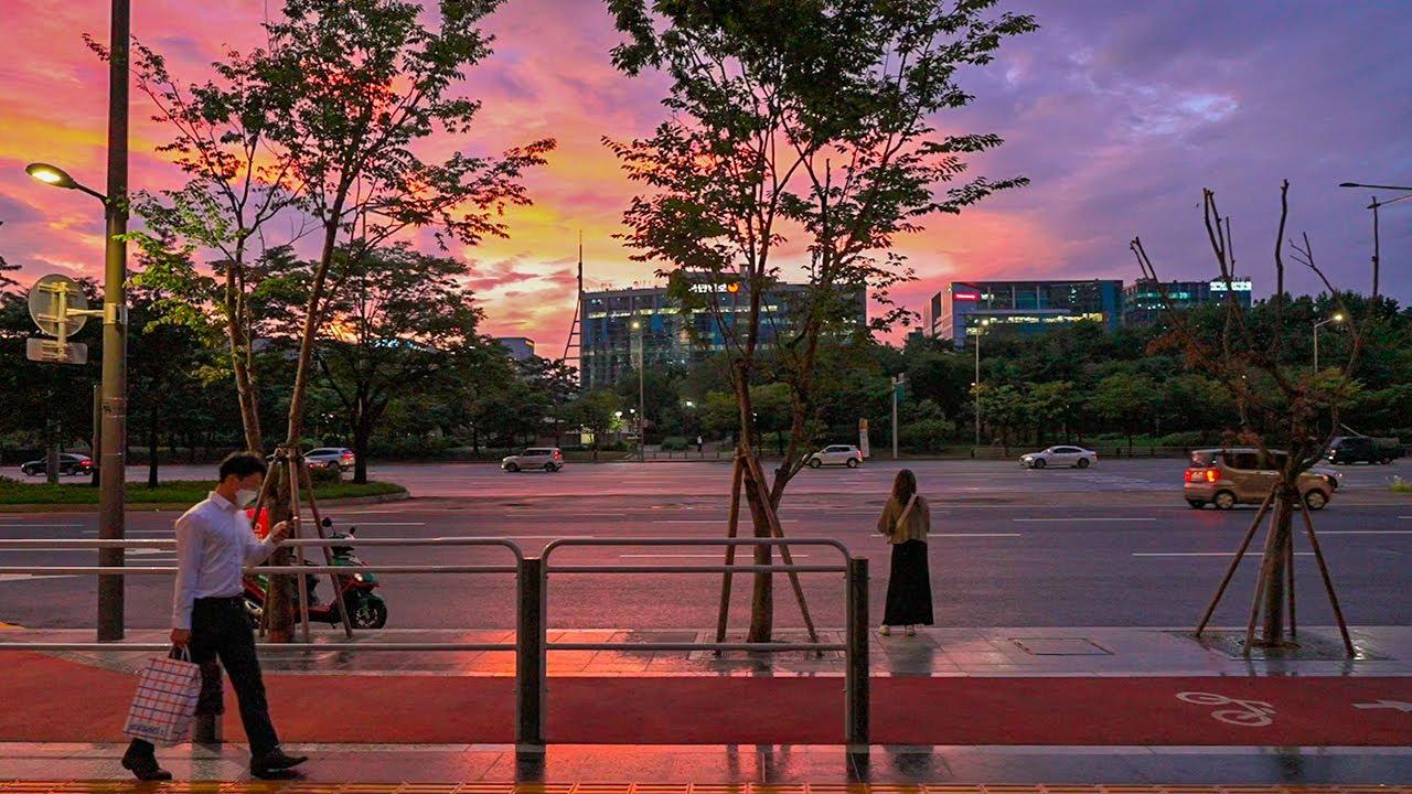 [4K HDR] Fall Into The Purple Sunset Seoul Korea