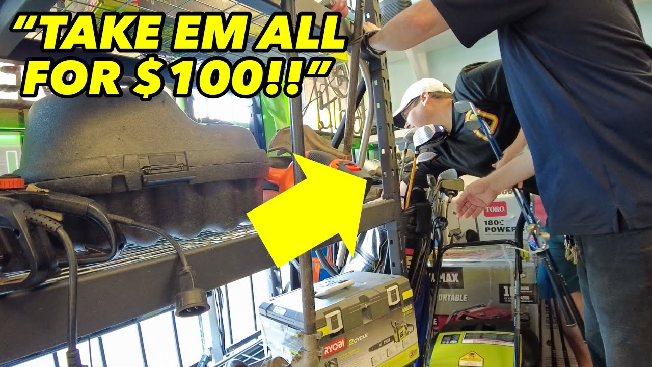 PAWN SHOP OFFERS TO SELL US EVERY GOLF CLUB FOR $100