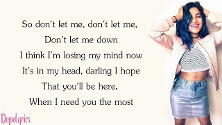 Don't Let Me Down - Chainsmokers - Vidya & KHS Remix (Lyrics)