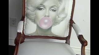 DIY: How to upholster a chair:  Marilyn Monroe image