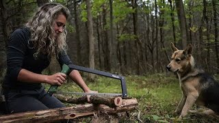Bushcraft Camp Build | Gathering and Processing Materials | Ticks Have Taken Over!!