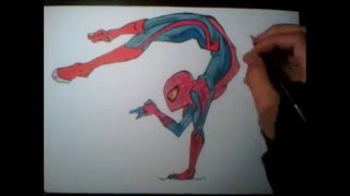 "Dessin The Amazing Spider-Man ""Fan Art"" (Speed Drawing)"