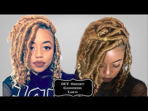 Diy Short Goddess Locs On Medium Length Hair Detailed Accessories Youtube