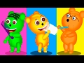 Mega Gummy Bear Good Habits Funny story  Finger Family Rhyme for Kids