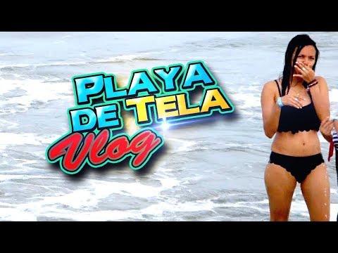 Disfrutando de las playas de Tela - Honduras