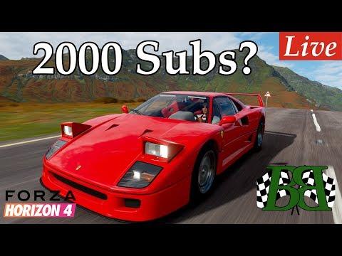 Can You Help Reach 2000 Subs? | Forza Horizon 4 Live Stream In My Ferrari F40 W/ Steering Wheel thumbnail
