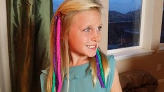 How to Make RAINBOW LOOM HAIR EXTENSIONS *Loomtastic Links* ORIGINAL*