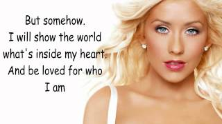 Christina Aguilera-Reflection (with lyrics)