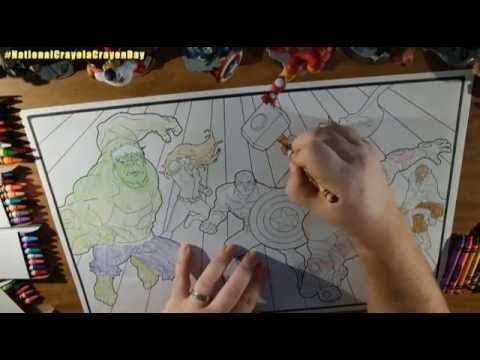 National Crayola Crayon Day - #Avengers - YouTube