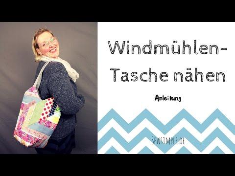 Anleitung: Windmühlentasche nähen | Chevron-Look