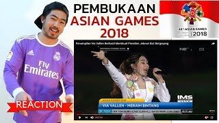 Gambar cover *REAKSI*MERAIH BINTANG - VIA VALLEN - ASIAN GAMES 2018 OPENING CEREMONY - JOKOWI IKUT BERGOYANG