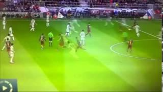 Quả chuyền bóng của Messi. Lại 1 trận đá tập nữa của Barca
