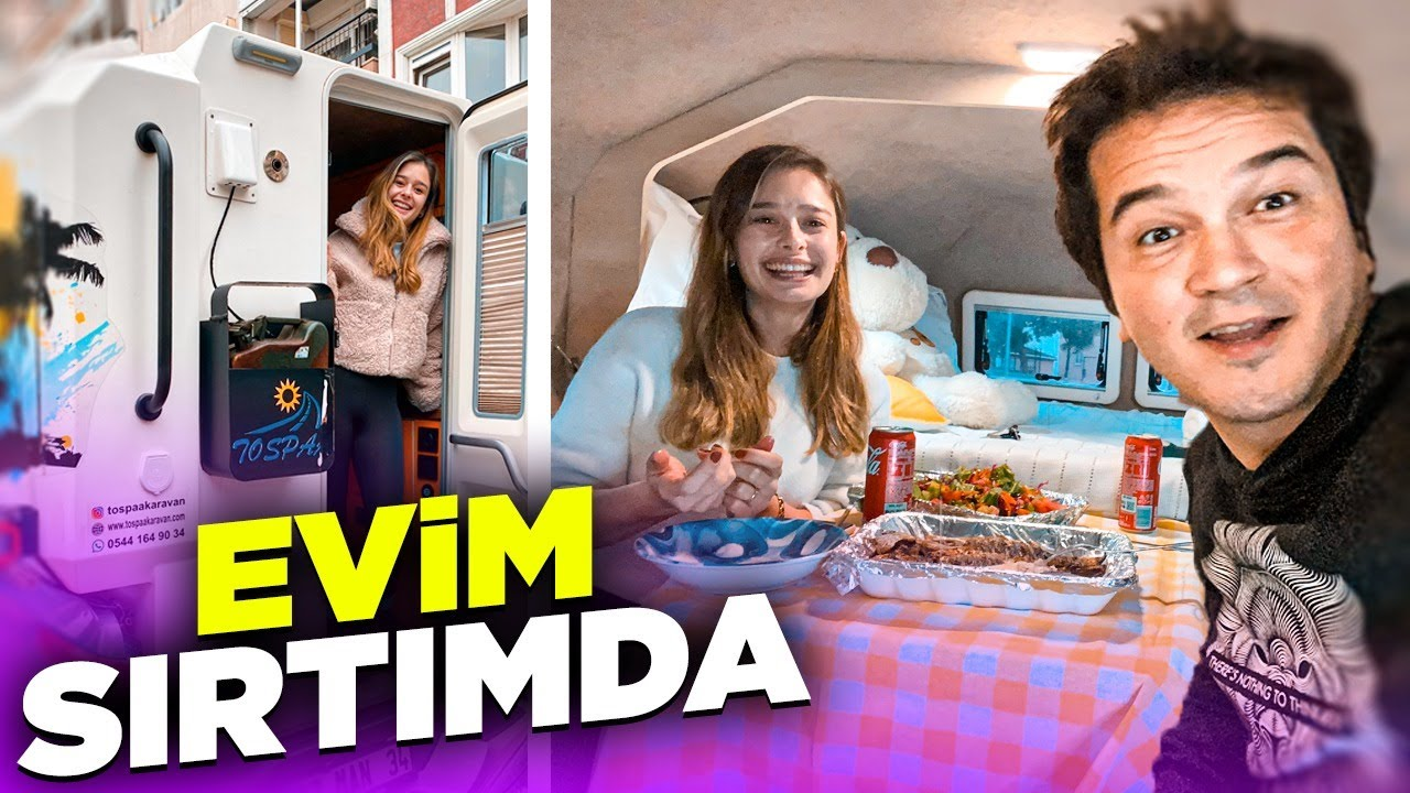 EVİM SIRTIMDA | İSTANBUL'DA PICKUP KARAVAN İLE 1 GÜN GEÇİRMEK (Sürpriz Konuk!)