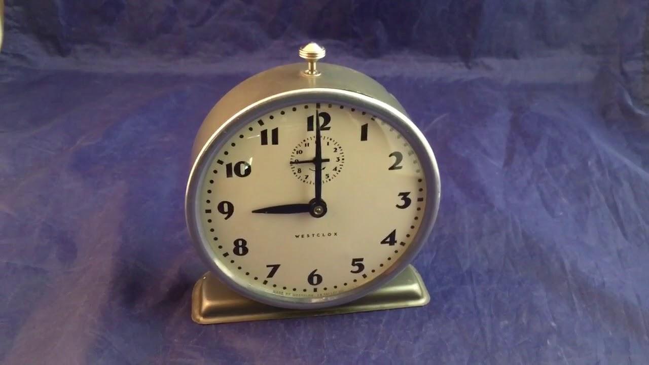 Vintage Westclox Alarm Clock - YouTube